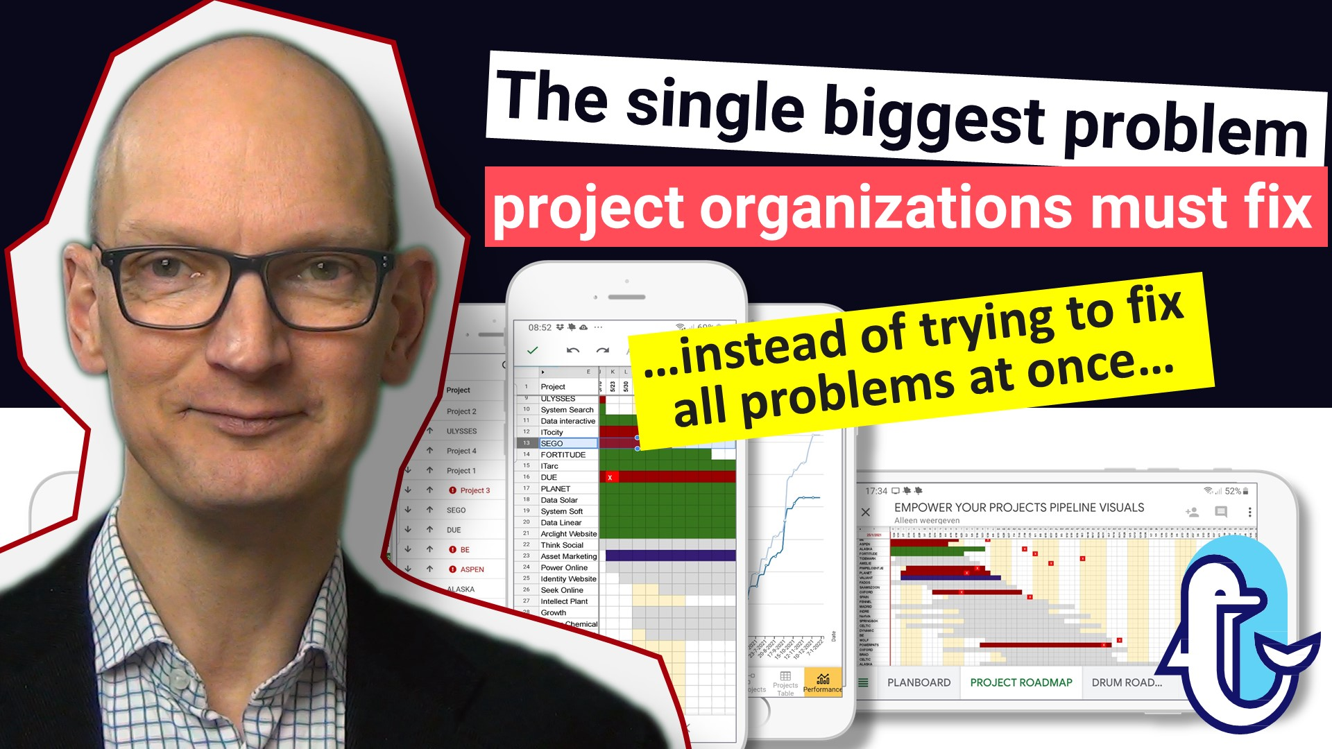 The single biggest problem project organizations must fix (…instead of trying to fix all problems at once…)